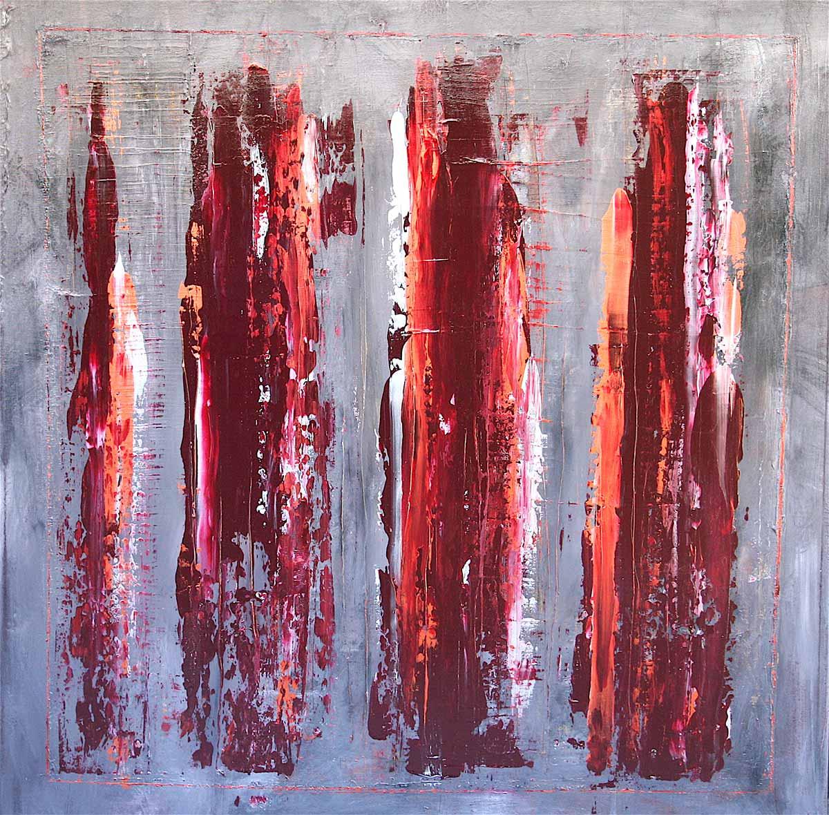 Fabio Valente - L'ultimo bacio acrilico 120 x120