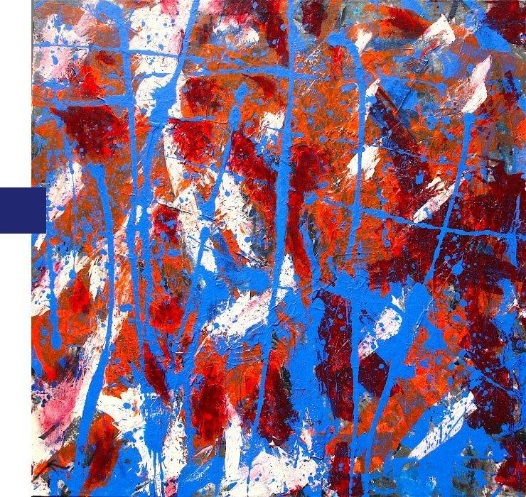 quadro blu rosso per serie universo