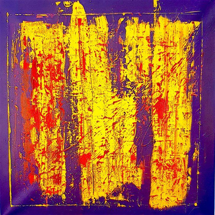 Fabio Valente, 80 x 80 astratto moderno illusione