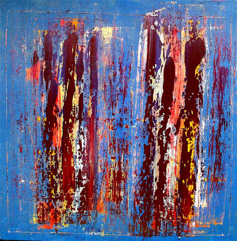 Fabio Valente - strani-giorni acrilico 150 x 150