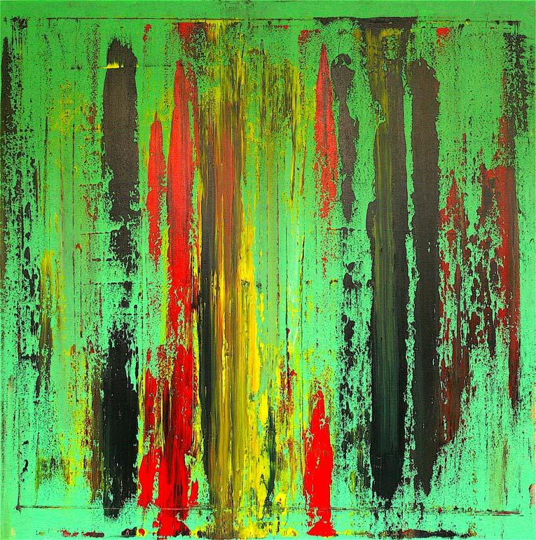 "Fabio Valente - ""verde""acrilico 100x100"
