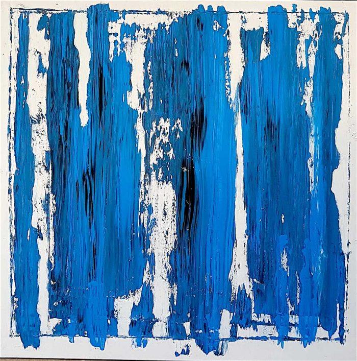 Fabio Valente - DUE-DITA-SOTTO-IL-CIELO-Acrilico 100 x 100
